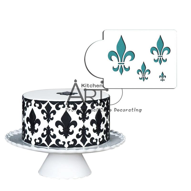 Fleur de Lis Cake Stencil Fondant Cake Decorating Tool ...