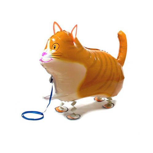 1pcs/lot Walk Cat Foil Balloon for children,children love Big Inflatable Print Walking Animal Mylar balloon for zoo theme party(China (Mainland))