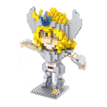 Japanese Classic Cartoon Character Action Figures Saint Hyoga Anime DIY Model Diamond Building Blocks Children Educational Toys