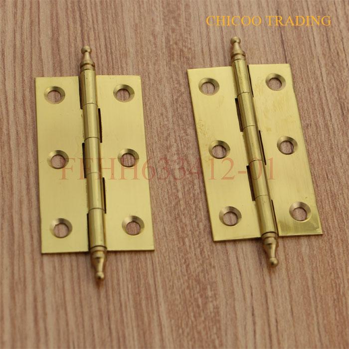 gold colour furniture hinge ,Kitchen Cabinets Drawer Pulls door hinge,brass hinge(China (Mainland))
