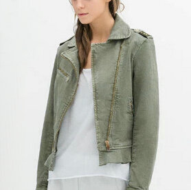 Green Denim Jacket Womens - JacketIn