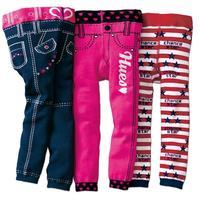 Boys girls Knitted leggings 3 pcs baby faux jeans pants 2-4T toddler kids spring autumn skinny trousers cotton children leggings