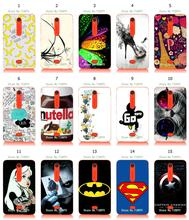 flower colorful superhero mobile phone bags & cases for Nokia Asha 501 hybrid retail 15designs new arrival white hard free ship