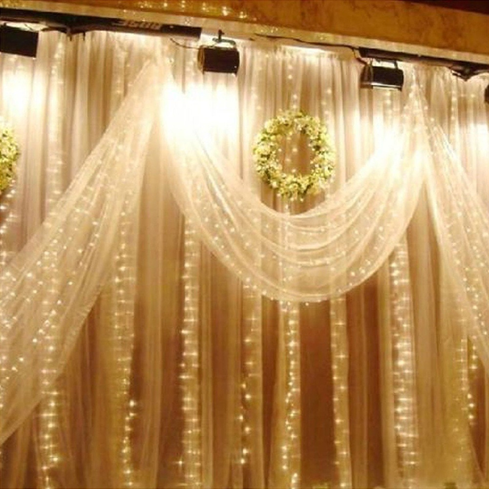 HoT 3 * 3m 300pcs LED Curtain Lights Party Birthday Wedding Decoration Gifts for The New Year Christmas Decorations casamento.-W(China (Mainland))