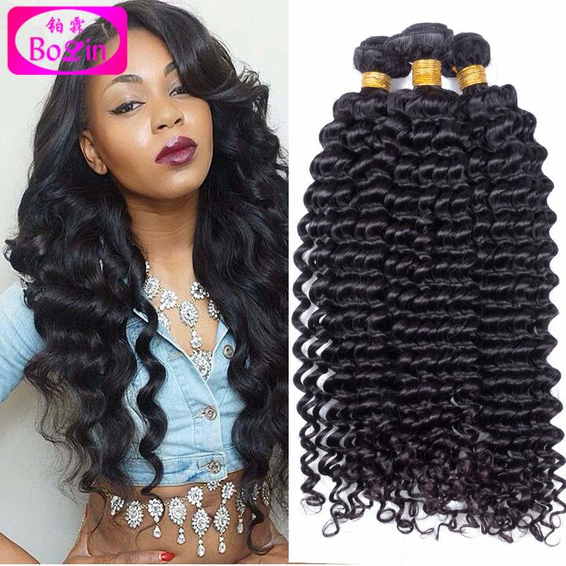 Brazilian Deep Curly Virgin Hair 3 Bundles Brazilian Deep Wave Virgin Hair Unprocessed Human Hair Brazilian Curly Virgin Hair