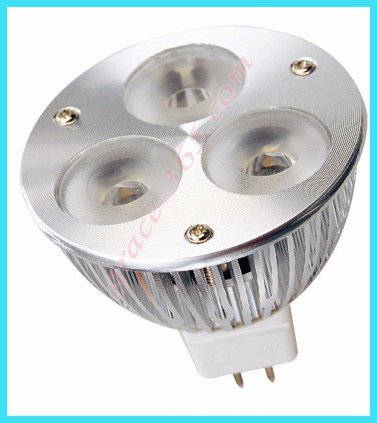 FreeShipping 6W White MR16 3x2w High Power focus LED spot Lamp 12V 45degree(China (Mainland))