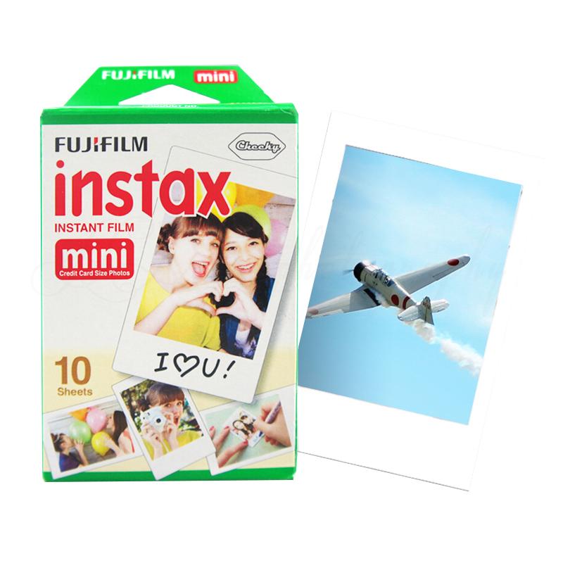 100% Original Fujifilm Fuji Instax Mini 8 Film Blanc 10pcs Photo Paper For Polaroid 7s 8 90 25 55 Share SP-1 Mini Instant Camera(China (Mainland))