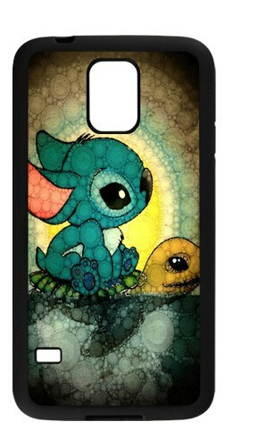 Funny Cute Cartoon Lilo and Stitch Cell phone case for samsung galaxy note 3 n900 s3 s4 s5 s6 9200 s6 edge Your color(China (Mainland))