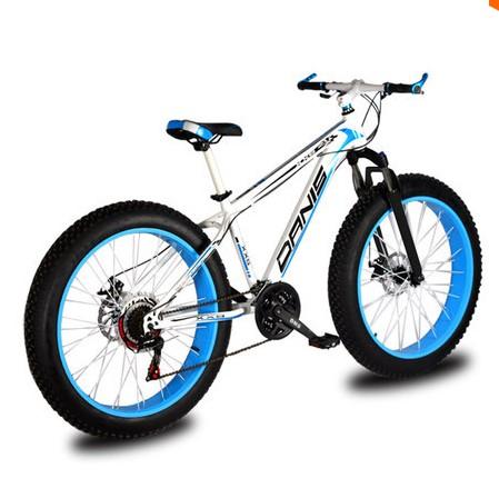 wz08 Snowmobile / mountain bike 26 inch 24 27-speed super wide tires 4.0 / tb04 off-road cushioning road car /26Inch Sand Beach(China (Mainland))