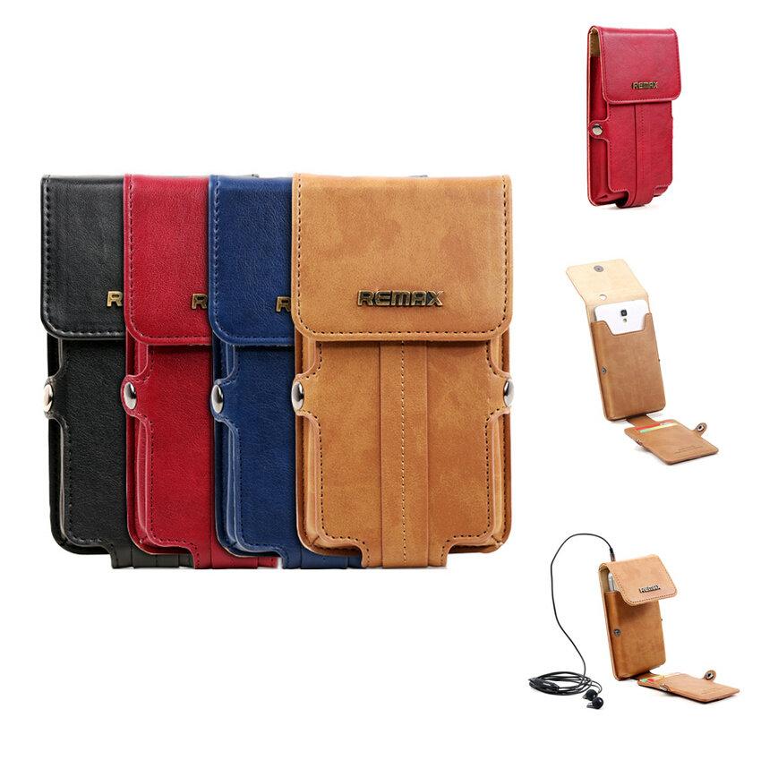 Original Remax Fashion Leather Wallet Case Belt Clip Pouch Holster Case Cover for Sony Xperia Z5 Premium Z5 Z3 + Z2 Z1 c3