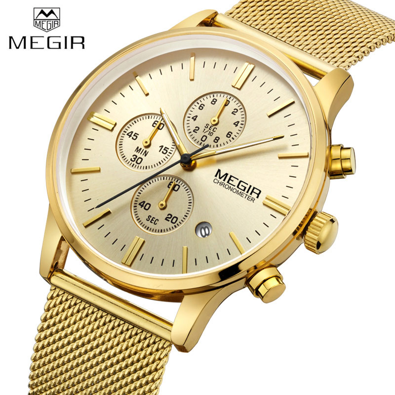 megir gold wrist luxury top