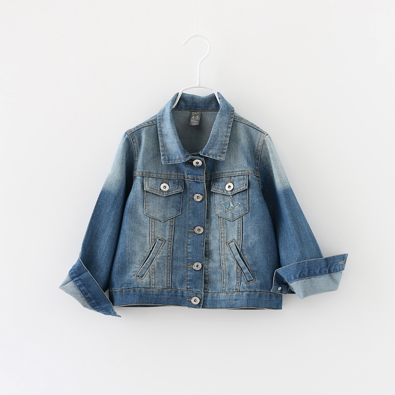 Kids Spring Outerwear Casual Denim Jacket Baby Boy Girl Fashion Solid Full Sleeve Button Style Coat Children Clothing 5psc/ LOT<br><br>Aliexpress