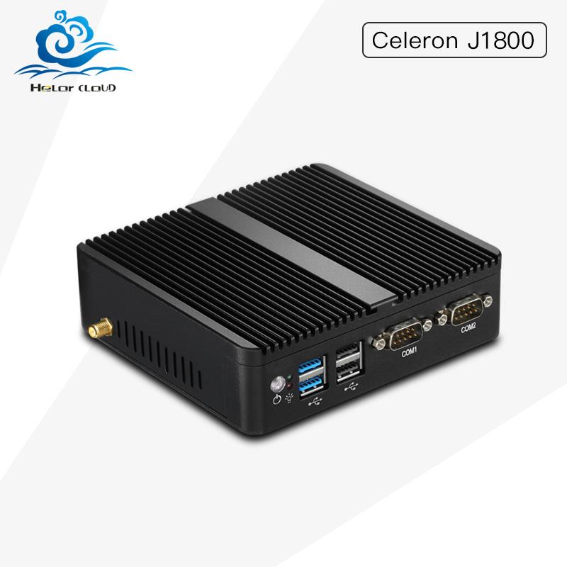 Hly Mini Pc with Celeron J1800 DualCore two Tread 2.41GHz Industrail Computer 2*Lan port+2*RS232 Com port Barebone PC 4G Ram(China (Mainland))