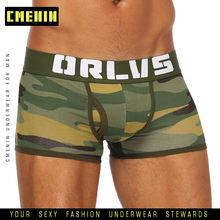 Camuflagem sexy cueca briefs men malha cueca cueca u bolsa masculino calcinha dos homens briefs gay malha respirável lingerie or187(China)