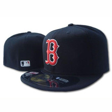2016 Men's full Closed Boston Red Sox fitted hat sock sport team embroidery baseball cap(China (Mainland))
