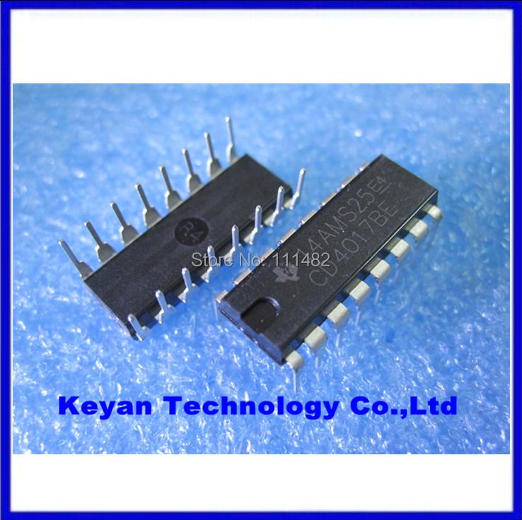 Free Shipping 100PCS CD4017 CD4017B CD4017BE 4017 DECADE COUNTER DIVIDER IC(China (Mainland))