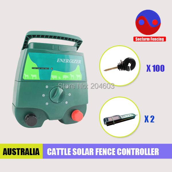 Ip24 étanche solaire électrique clôture électrificateur chargeur pour ferme élevage(China (Mainland))
