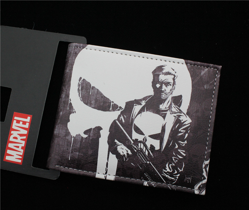 The Punisher wallet women&men Biold leather pu purse 2 style