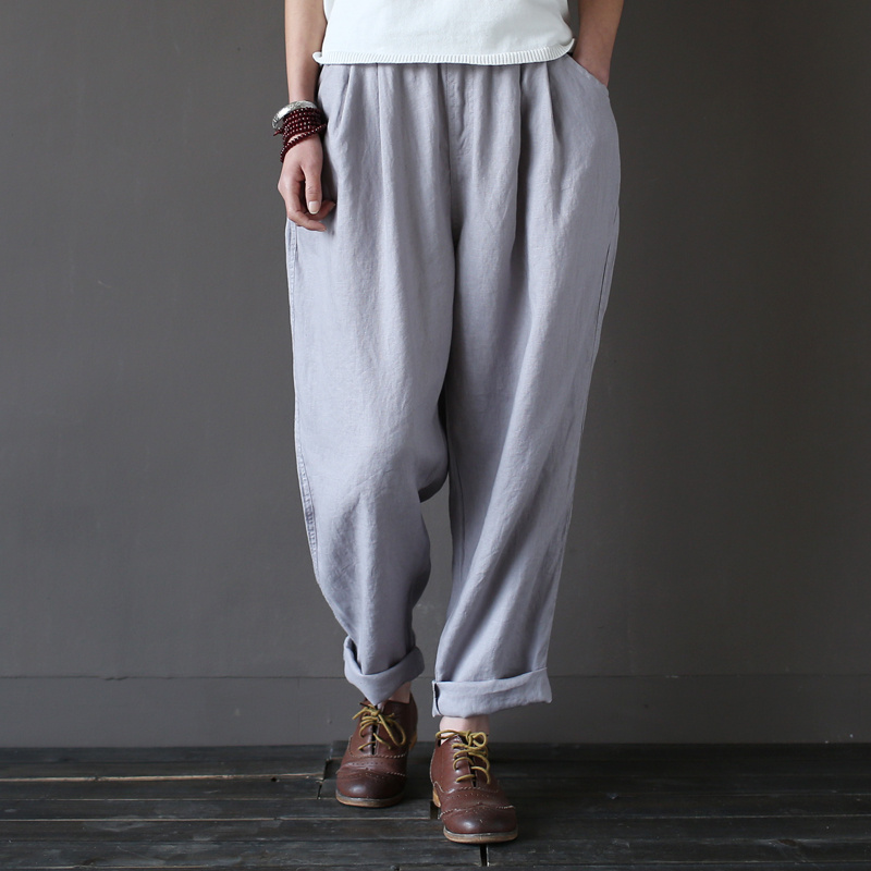 Awesome High Waist Harem Pants Women Stringyselvedge Summer Style Casual Pants