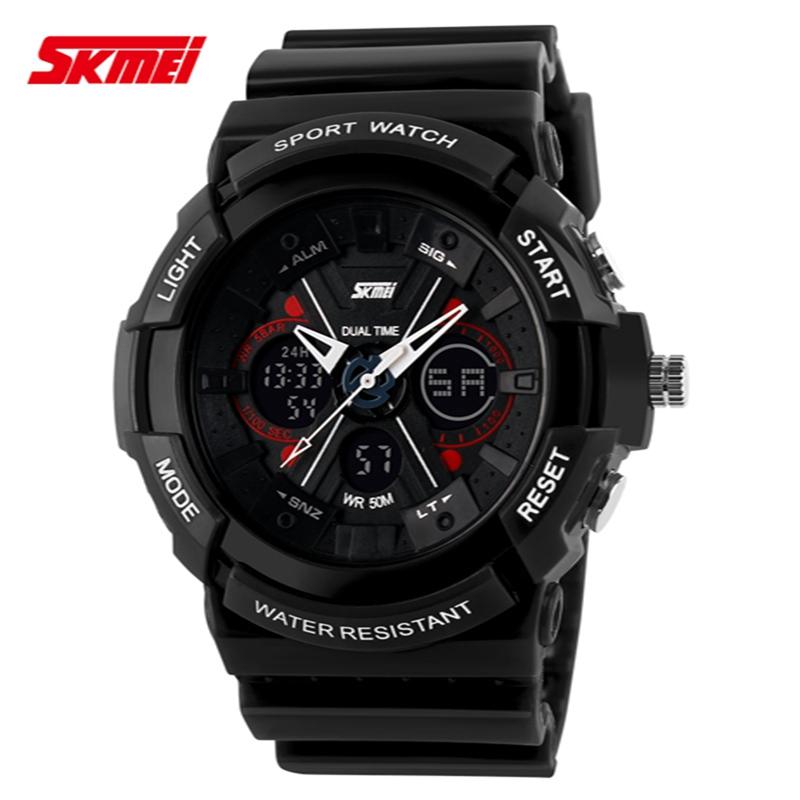 2015 New SKMEI Luxury Brand Watches Men Military Sports Watch Digital Quartz Wristwatch Rubber Strap Relogio Masculino Hot<br><br>Aliexpress