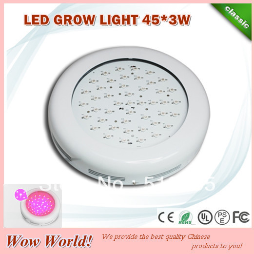 Professional Manufacture full spectrum 45*3W high power led grow lights for medical plant, grow lights led for hydroponic system(China (Mainland))