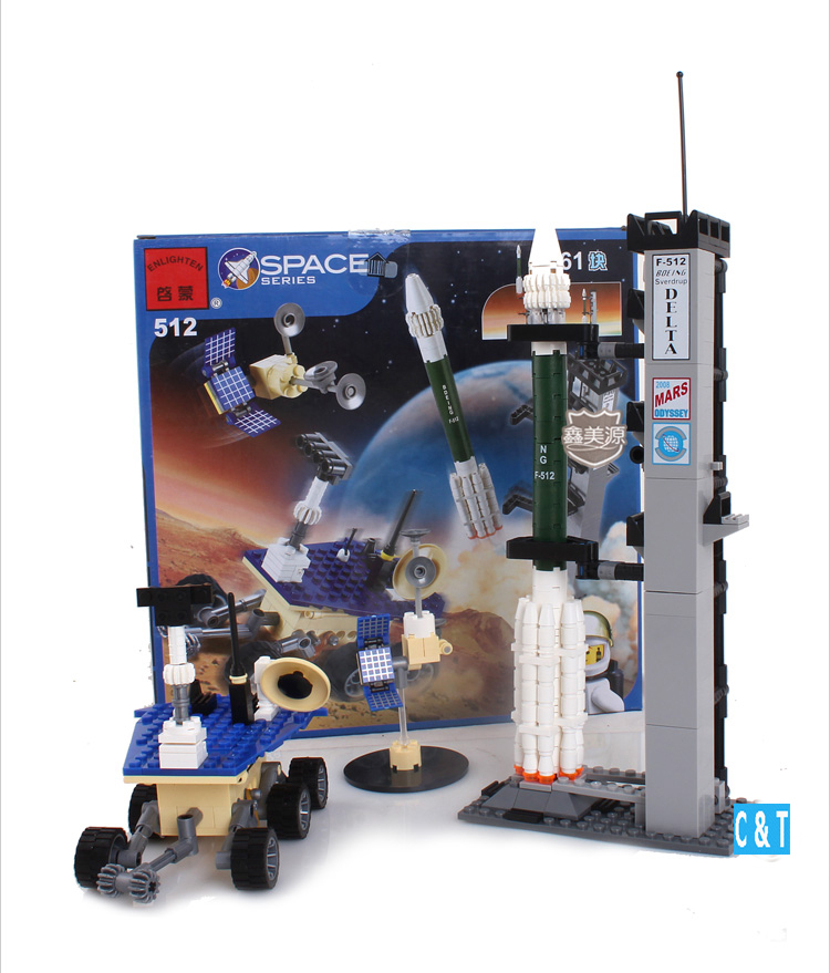 Building Blocks Hot Toys Boys Space Series Mars Survey Team 3D Construction Sets Model Kits Christmas Gift - C&T store