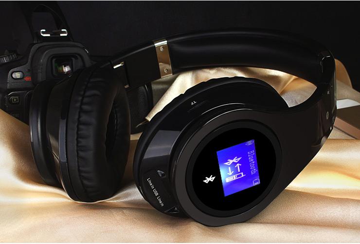 LED Display Screen Wireless Stereo Bluetooth Headphones, bluetooth headset, Handsfree Earphone With Mic, FM Radio, TF Card Slot<br><br>Aliexpress