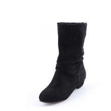 2018 di Autunno di Inverno Delle Donne Stivali a Metà Polpaccio Martin Stivali di Modo di Marca Femminile di Cotone Stretch Tessuto Slip-on Stivali scarpe basse Donna(China)