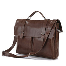 Japan And South Korea Department Of genuine Leather Briefcases Distinguished Handbag Shoulder Bag Computer Bag 7100(China (Mainland))