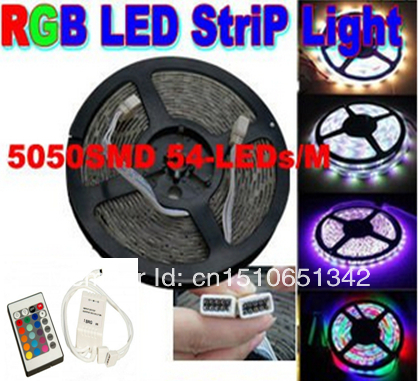 Hot Sale RGB 5M LED Strip Chasing light horse race lamp 5050 12V 54LED/m Tiras Licht waterproof strips for christmas +IR remote(China (Mainland))