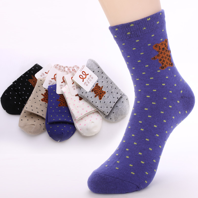 Red beauty products shall bear season cotton socks Japanese and Korean style casual cotton tube socks factory wholesale Girls(China (Mainland))