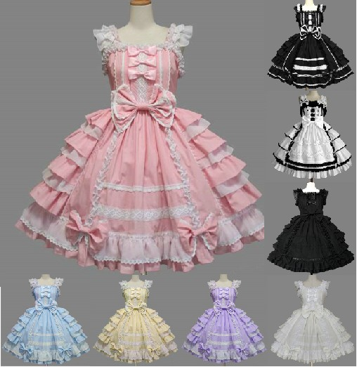Princess Cosplay Lolita Dress Women Chiffon Lace Formal Dress Spaghetti Strap DressОдежда и ак�е��уары<br><br><br>Aliexpress