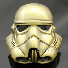 Vintage Gold Star Wars Stormtrooper 3D Helmet Mask Belt Buckle Fancy Dress Jewelry Free Shipping