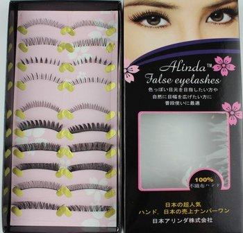 Free shipping,32box/lot ,high quality,(10pairs/box)Beautiful False Eyelash (alinda)