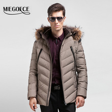 MIEGOFCE 2016 Thick Warm Winter duck Down Jacket for Men Waterproof Fur Collar Parkas Hooded Coat high quality Western style(China (Mainland))