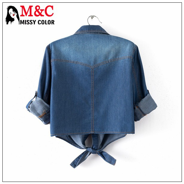Женщины 3/4 рукав Camisa джинсы FeМиниna весна лето стиль жан пляж кардиган короткая куртка джинсовая рубашка sml XL XXL XXXL ZF312