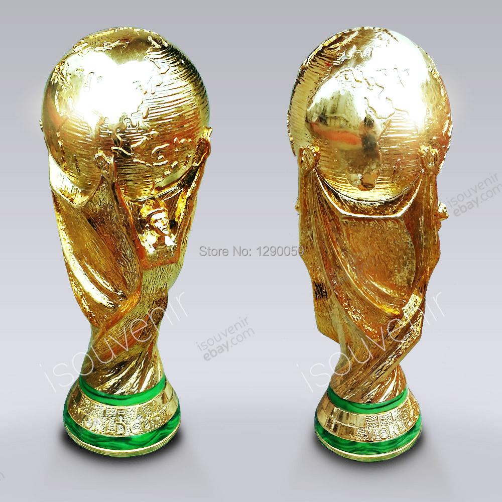 hot 36 cm 2 kg gold harz 1 1 2014 brasilien fu ball geschenk fu ball titan becher wm pokal. Black Bedroom Furniture Sets. Home Design Ideas