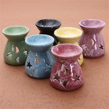 Newest Ceramic Fragrance Oil Burners Lavender Aromatherapy Scent Candle Essential Gift In ceramica Candle(China (Mainland))