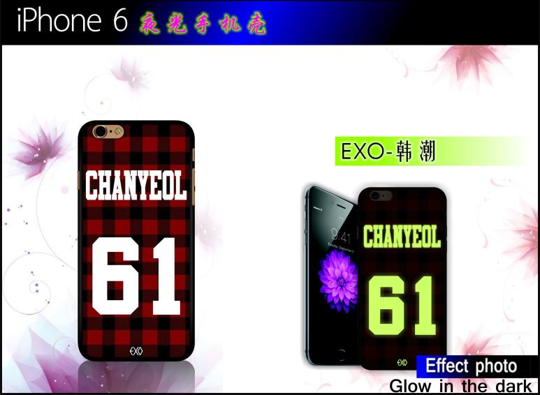 man EXO Trendy Num patterns night in light case for iPhone 4 4S 5 5S 6 6 Plus(China (Mainland))