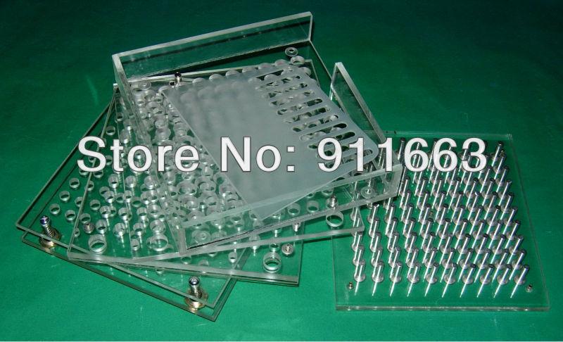 (00#,0#,1#,2#,3#,4# empty capsule used)100 cavity, manual capsule filling machine,capsule filler plus tamping tool(China (Mainland))