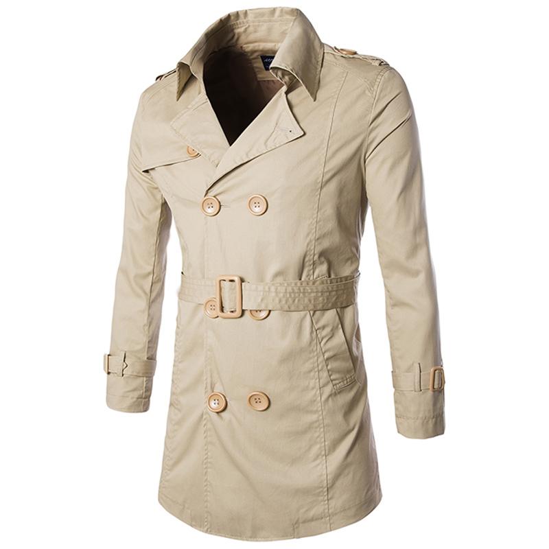Casaco Masculino Spring Trench Coat Men Double Breasted Long Trench Coat Fashion Slim Windbreaker Jackets Mens Casual Coat F01(China (Mainland))