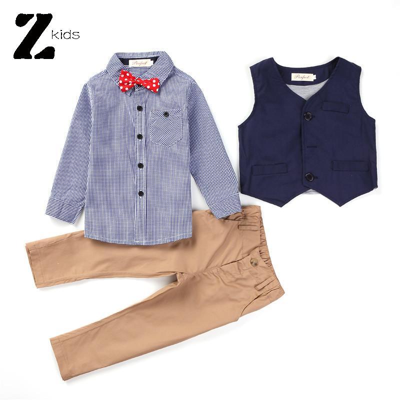 2015 Newest Spring Autumn Kids Boys Wedding Clothes Suits Children Gentleman Formal Clothing 3 Pieces Set Retail(China (Mainland))