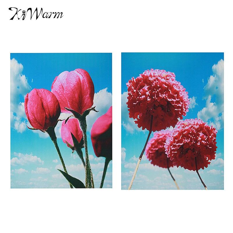 Spray Painting Canvas Painting Flowers Under The Sky Pictures Restaurant Shop Home Sitting Room Adornment Wall Sticker Decor(China (Mainland))