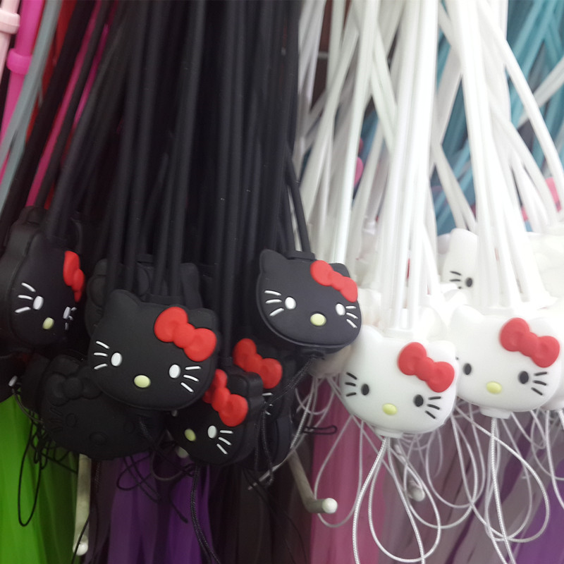 200x Silicone Cell Phone Mobile Neck Chain Straps Camera Straps Key Keychain Charm DIY Hang Rope Lariat Lanyard MP3 U flash Disk(China (Mainland))