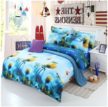 Luxury 3D Bedding Sets Printed Animal 3D Flower Scenery Bed Set Bedclothes Comforter Duvet Cover/Sheet/Pillowcase BS33(China (Mainland))