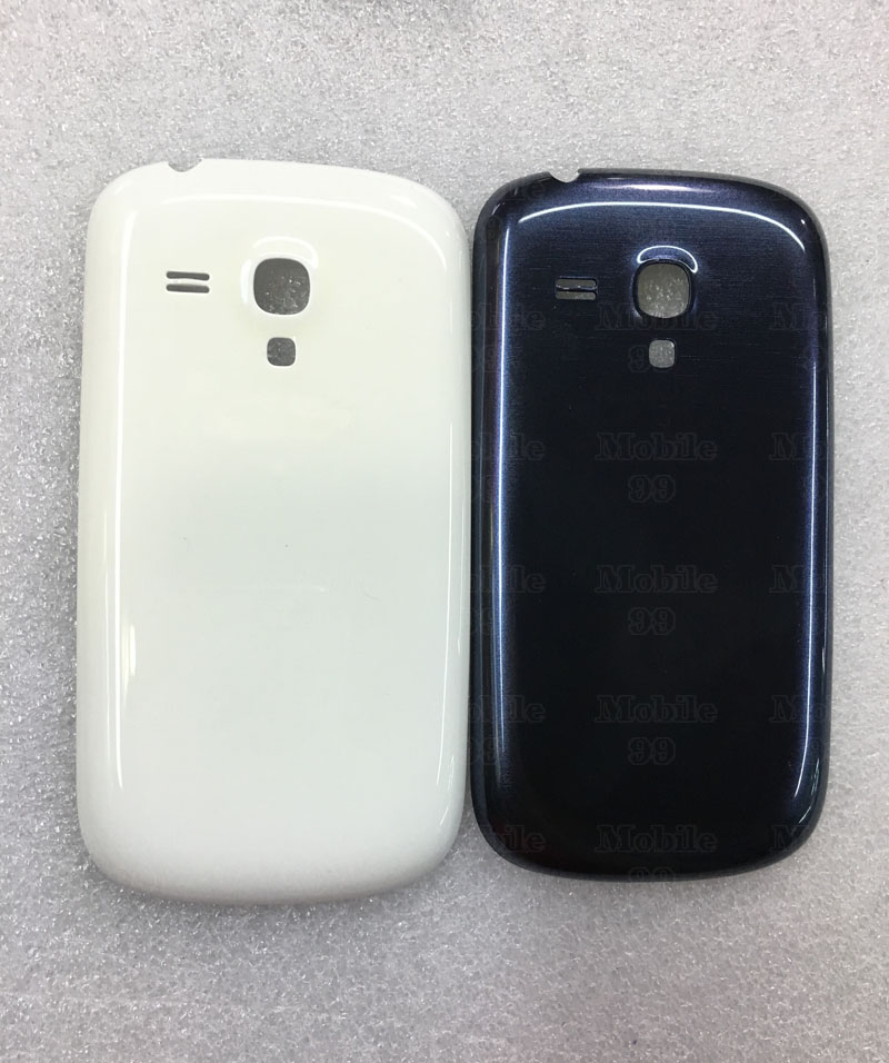 For Galaxy S3 Mini I8190 Battery Door Back Cover Replacement Back Housing for Samsung Galaxy S3 Mini i8190 Blue White(China (Mainland))