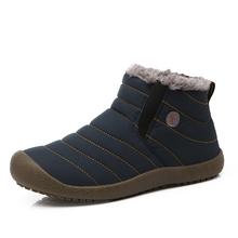 Nuevo 2016 Invierno de Los Hombres Zapatos Casuales de Color Sólido Botas de Nieve de Algodón Inferior Antideslizante Mantener Caliente Impermeables hombres, Botas de tamaño 45,46(China (Mainland))