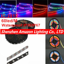 Buy 5M/lot waderproof IP30/IP67 DC 5V WS2812B 2812 IC 60LEDs/M SMD 5050 RGB Led Strip Light addressable Dream Color LED Pixel Strip for $42.94 in AliExpress store
