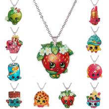 Mode Kawaii Einkaufen Flatback Harz Anhänger Halskette für Mädchen Silber Kette Planaren Harz kinder Halsketten & Anhänger 0130(China (Mainland))
