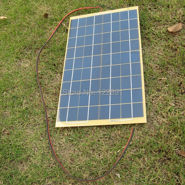 HOT 10Watt  Solar Panel Solar Cell 10W18 Volt For 12V Battery Charger Garden Fountain Pond Battery Charger+Diode Free Shipping<br><br>Aliexpress